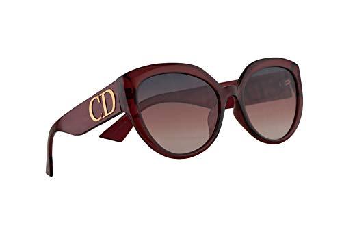 Christian Dior DDiorF Occhiali Da Sole Opale Bordeaux w/Lente Rosa 56mm LHFVC DDior