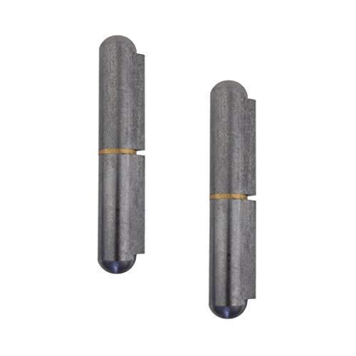 Gedotec Türscharnier zum anschweißen Metall Anschweißbänder 2-teilig für Metall-Türen | Anschweißscharnier Höhe: 120 mm | MADE IN GERMANY | Tragkraft 200 kg | 2 Stück - Türbänder für Tore & Maschinen