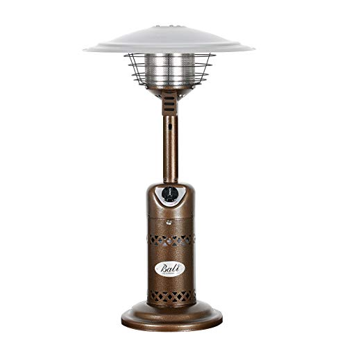 BALI OUTDOORS Portable Patio Heater, Outdoor Propane Table Top Heater, Bronze