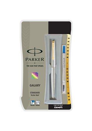 Parker Galaxy (adornos en dorado de acero inoxidable bolígrafo Roller