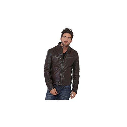 Daytona Dustin - Chaqueta de piel para hombre, color marrón marrón XXL