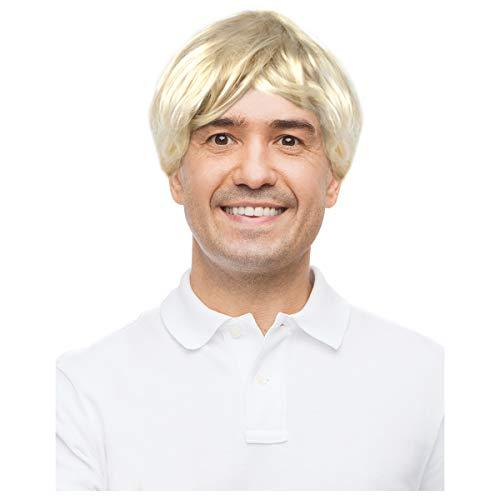 Men's Short Blonde Wig For Adults Short Blonde Wig For Men Barney Wig