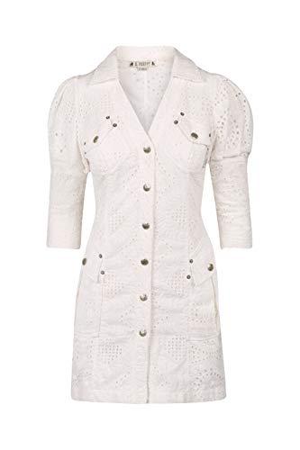 H Preppy Vestido Bordado En Algodón Modelo 7747 Color Blanco (S)