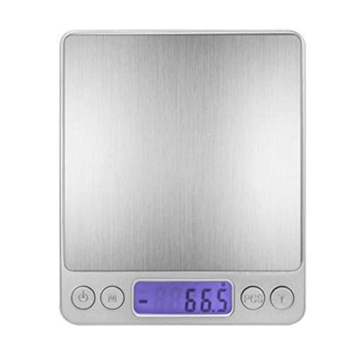 FREELX Báscula Electrónica Digital para Alimentos, con Plataforma de Acero Inoxidable, Báscula Electrónica de Alta Precisión para el Hogar y la Cocina, Función de Tara