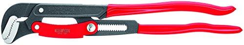KNIPEX 83 61 020 Rohrzange S-Maul mit Schnelleinstellung grau pulverbeschichtet mit Kunststoff überzogen 560 mm