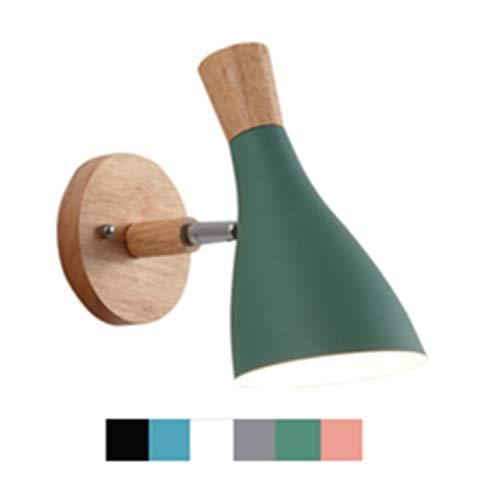 Eenvoud bed wandlampen / E27 Modern Creative Nordic Hardwired houten houder Verstelbare Swivel studiezalen overgangen slaapkamer veranda wandlamp