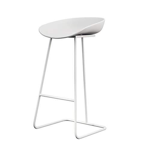 Barstoolri barkruk, Scandinavisch metaal, robuust, duurzaam, antislip, hoge stoel voor huis, kantoor, tuin Wit