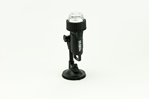 Aqua Signal 27440-7 Battery-Powered LED Stern Light with Suction Cup/C-Clamp Pole Mount