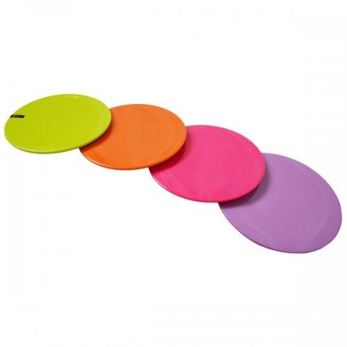 Dessous de plat en plastique coloré