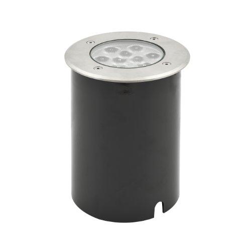 Konstsmide 7921-310 - Faro da Incasso a Terra HighPowerLED (Larghezza: 14,5 cm, profondità: 19 cm, Altezza: 14,5 cm, IP65), in Acciaio Inox, Vetro Trasparente