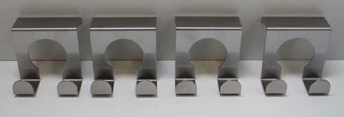 Land-Haus-Shop Edelstahl Türhaken Set 4 Stück,Tür Garderoben Kleider Handtuch Bad Küchen Haken (LHS)