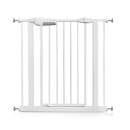 KTDT Puertas de Seguridad para Interiores Protector de Pared para Puerta de Mascotas Puerta de bebé Extra Ancha para Puertas Patio de Juegos de escaleras Easy Step Walk Thru Gate, 60-194cm (Tamañ