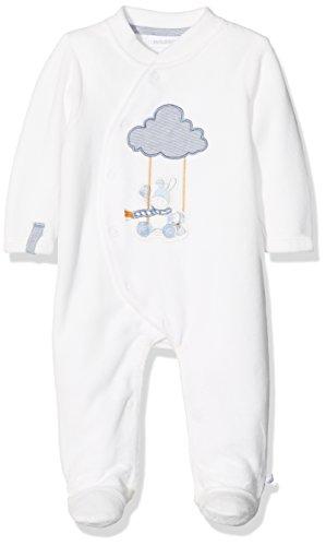 Noukies Noukie's Baby-Jungen Pyjama 1PCS SMART Schlafstrampler, Weiß (Blanc Blanc), 6 Monate