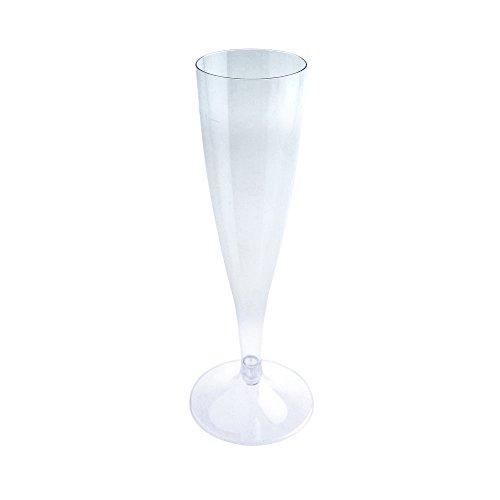 Flûte à Champagne Facile Flûte à Champagne Tulipe Verre Gobelet Verre à Vin Blanc Verre à Vin Verre Plastique Plastique Plastique Verre Camping Camping Ensemble Extérieur 20 Pièces par DoimoFlair