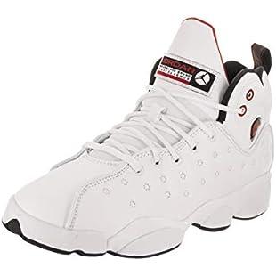 Jordan Nike Kids Jumpman Team II BG White/Black/Gym Red Basketball Shoe 6 Kids US