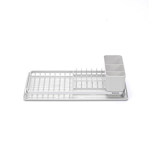 Brabantia - 117282 - Égouttoir à vaisselle compact, Gris clair