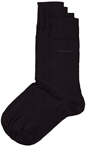 BOSS Herren Socken Twopack RS Uni 10112280 01 2er Pack, Schwarz (Black 001) 39/42