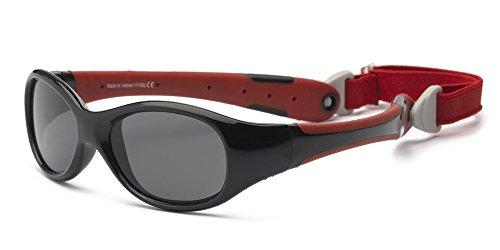 Real Kids Real Kids 2EXPBKRD Explorer Kindersonnenbrille, Flexible Passform, Größe 2+, schwarz/rot