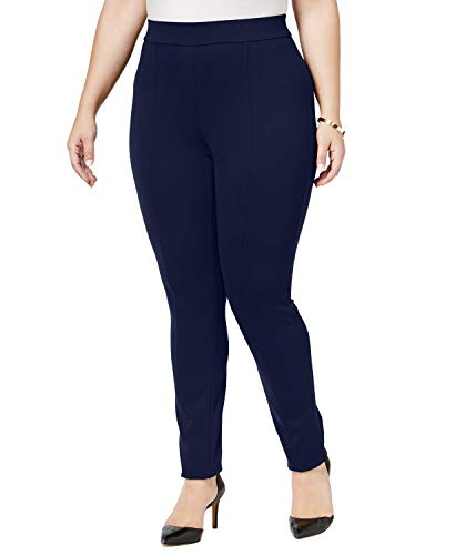 Style & Co. Womens Plus Seamed Stretch Leggings Navy 16W