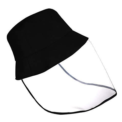 LAMF - Cappellino nero con visiera in policarbonato trasparente con visiera anti-sputamento per bambini