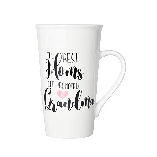 Pfaltzgraff Best Moms Get Promoted To Grandmas Tall Latte Coffee Mug - 18 Ounce