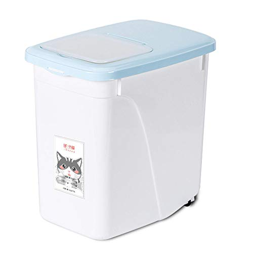 New Wsaman Moisture-Proof and Fresh-Keeping Pet Food Storage Bucket, Triple-Sealed Food Storage Cont...