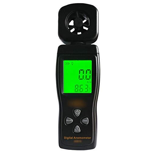 Dingziyue Anemometer Messgerät Windgeschwindigkeit Instrument Handheld Digital Anemometer Hohe Präzision Windgeschwindigkeit Tester Windmesser (Farbe: schwarz)