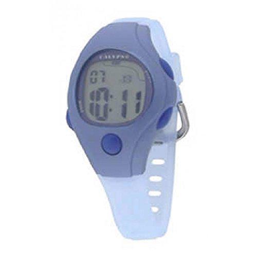 Calypso K6006/5 - Reloj digital de caballero con cronómetro, alarma y luz. Color azul