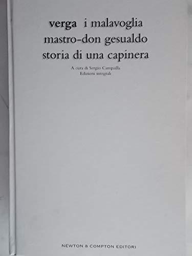 I Malavoglia-Mastro don Gesualdo-Storia di una capinera