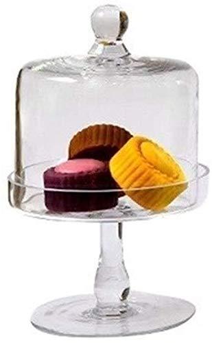 Tortenplatte Geschirr-Steak-Platte Premium-Dessert-Tisch, Brot-Falafel-Tablett-Torte-Donuts mit Käse-Kuppel-Glas-Candy-Jar-Set-Chip- und Dip-Server 15cm Salatplatte LQHZWYC