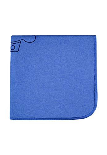 bellybutton Boys Krabbel Kuschel Decke für Wiege/Bettchen/Kinderwagen mid blue melange (blau)