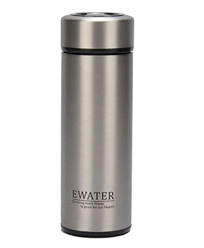 Glass Liner Vacuum Flask Stainless Steel Water Bottle Insulated Travel Coffee Thermos Mug,12oz,11oz,9oz Available (11oz, Stainless Steel)