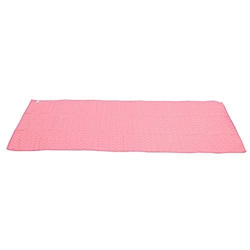 ROMACK Toalla de Yoga Cubierta de Estera de Yoga Suave para Yoga Caliente para Pilates(Rosado)