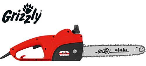 Grizzly EKS 1835-20 Elektrische kettingzaag, 1800 watt, snijlengte 35,5 cm, automatische kettingsmering, veiligheidsstop, metalen aandrijving