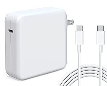 Tissyee 96W USB C Power Adapter Compatible with MacBook Pro Charger 13 15 16 inch 2020 2019 2018 Works with USB C 96W 87W PD Power Charger Included USB-C to USB-C Charge Cable  6.6ft/2m