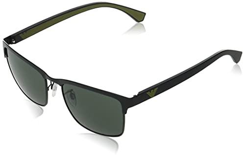 Emporio Armani Occhiali da sole EA2087 301471 occhiali Uomo colore Nero lente verde taglia 56 mm