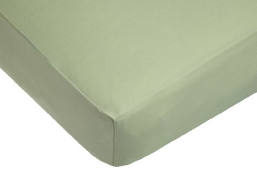 Big Save! American Baby Company Knit Fitted Crib Sheet Made with Organic Cotton in Sage Color, Soft ...