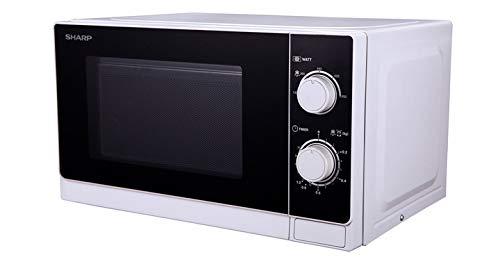 Sharp R-600WW Comptoir Micro-onde combiné 20L 800W Noir, Blanc micro-onde - Micro-ondes (Comptoir, Micro-onde combiné, 20 L, 800 W, Rotatif, Noir, Blanc)