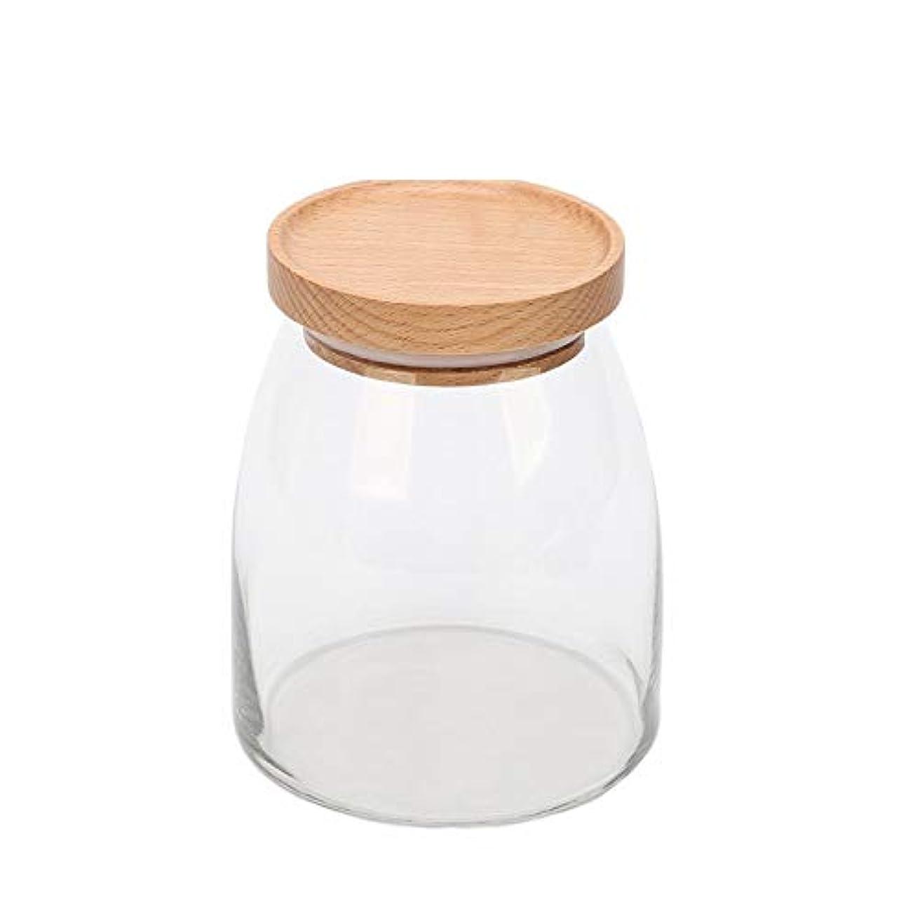 チャップ申し立て脇に貯蔵タンク、透明ガラス貯蔵タンク、家庭用食品、茶瓶
