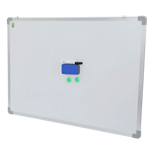 60 x 24 Inches Magnetic Dry Erase Board/Whiteboard, with Pen, Eraser and 2 Magnetic Particles,Silver Aluminium Frame,Wall Mounted Board for School Office and Home (White, 36x24 in)