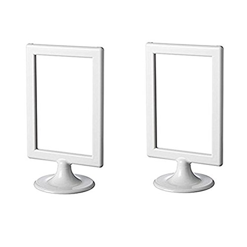 IKEA Bilderrahmen Tolsby, Weiß, 10,2x 15,2cm (2er-Pack), Rahmen für je 2Bilder