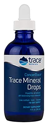 Trace Minerals Research 118 ml Liquimins ConcenTrace Trace Mineral Drops in Glass Bottle from Trace Minerals Research