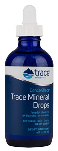 Trace Minerals Concentrace Trace Mineral Drops-Glass, 4 Fl Oz (Pack of 1)