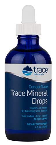 Trace Minerals | konzentrierte Spurenmineralien-Tropfen | 4 fl. oz. (118 ml) | Flasche mit Pipette | vegan und glutenfrei