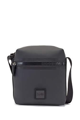 BOSS Herren Hyper N NS mini Reporter-Tasche aus mattem Gewebe mit Logo-Tape am Reißverschluss Größe One Size