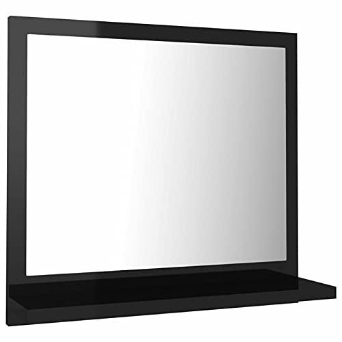 Tidyard Specchio da Bagno a Parete Moderno con Mensola in Truciolato,Specchio a Muro da Bagno Moderno con Mensola,Specchio da Parete Bagno Moderno con Mensola,Specchio con Mensola,Specchio con Cornice