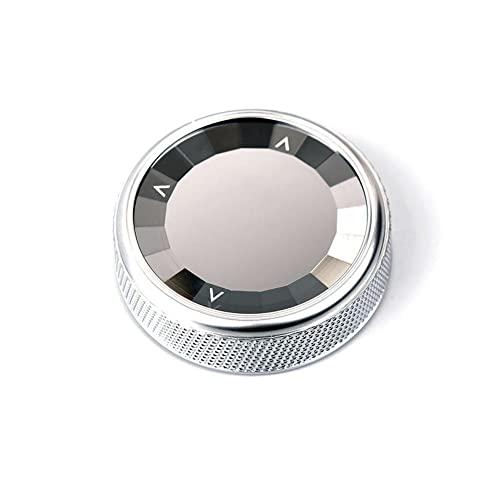 BAWAQAF Ajuste para BMW Serie 6 F06 2013-2019, marco de decoración de perilla interior del coche, accesorios interiores, cubierta de botón de anillo multimedia