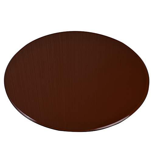 Hotel Vidrio Templado Redondo marrón para Escritorio Mesa de Comedor casera encimera de Vidrio Diameter 58cm