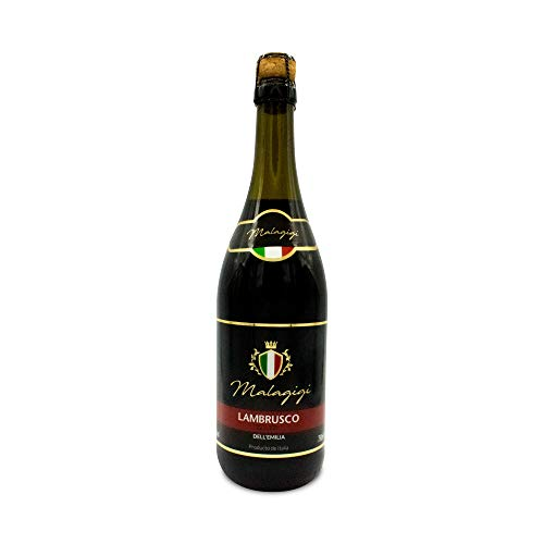 MALAGIGI Lambrusco Tinto - Paquete de 6 botellas de 75 - Total 450 cl