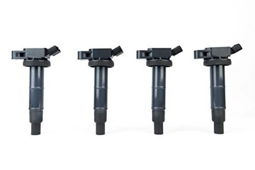 Ignition Coil Pack Set of 4 - Compatible with Toyota, Scion & Lexus Vehicles - Camry, Corolla, Solara, tC, xB, HS250h and more 2.0L, 2.4L models- Replaces 90919-02244, UF333 - Year Models 2001-2012